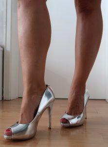 Peeptoe Heels silber